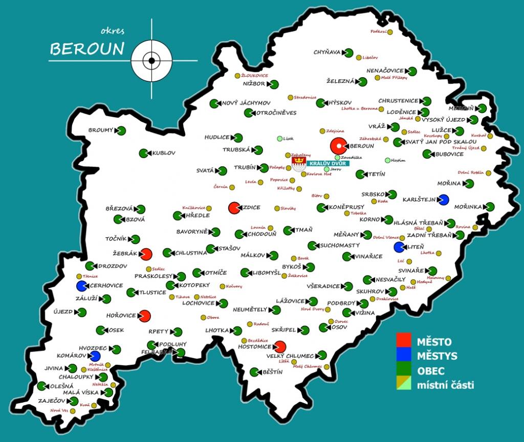 Mapa Mapa Berounsko
